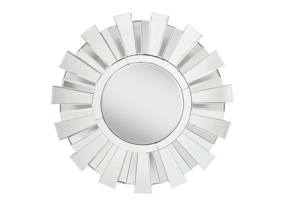 Зеркало SunflowerНастенные зеркала<br>&amp;lt;div&amp;gt;Это зеркало ? настоящий солнечный цветок в стиле ар деко. Основа для него изготовлена из МДФ. Края каждого &amp;quot;луча&amp;quot; обработаны для безопасного использования. В диаметре &amp;quot;солнечный диск&amp;quot; практически 1 м, а весит около 17 кг.&amp;lt;/div&amp;gt;<br><br>Material: Стекло<br>Ширина см: 95<br>Глубина см: 3