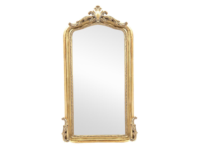 ЗеркалоНастенные зеркала<br>Зеркало в состаренной золотой раме из дерева,декорированной резьбой ручной работы.<br><br>Material: Дерево<br>Ширина см: 83<br>Высота см: 145
