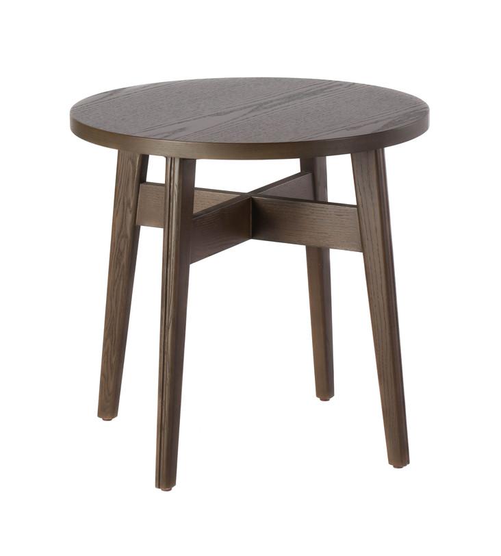 Стол DARKПриставные столики<br>Симпатичный журнальный столик из дерева коричневого цвета: круглая столешница опирается на расставленные ножки, сужающиеся книзу. Именно такая форма ножек, а также высоко расположенная крестообразная пронога позволяют столику выглядеть лёгким. Отлично впишется и в интерьер в стиле «лофт».<br><br>Доступен в 2-х вариантах цвета.<br><br>Material: Дерево<br>Length см: None<br>Width см: 45<br>Depth см: 45<br>Height см: 54