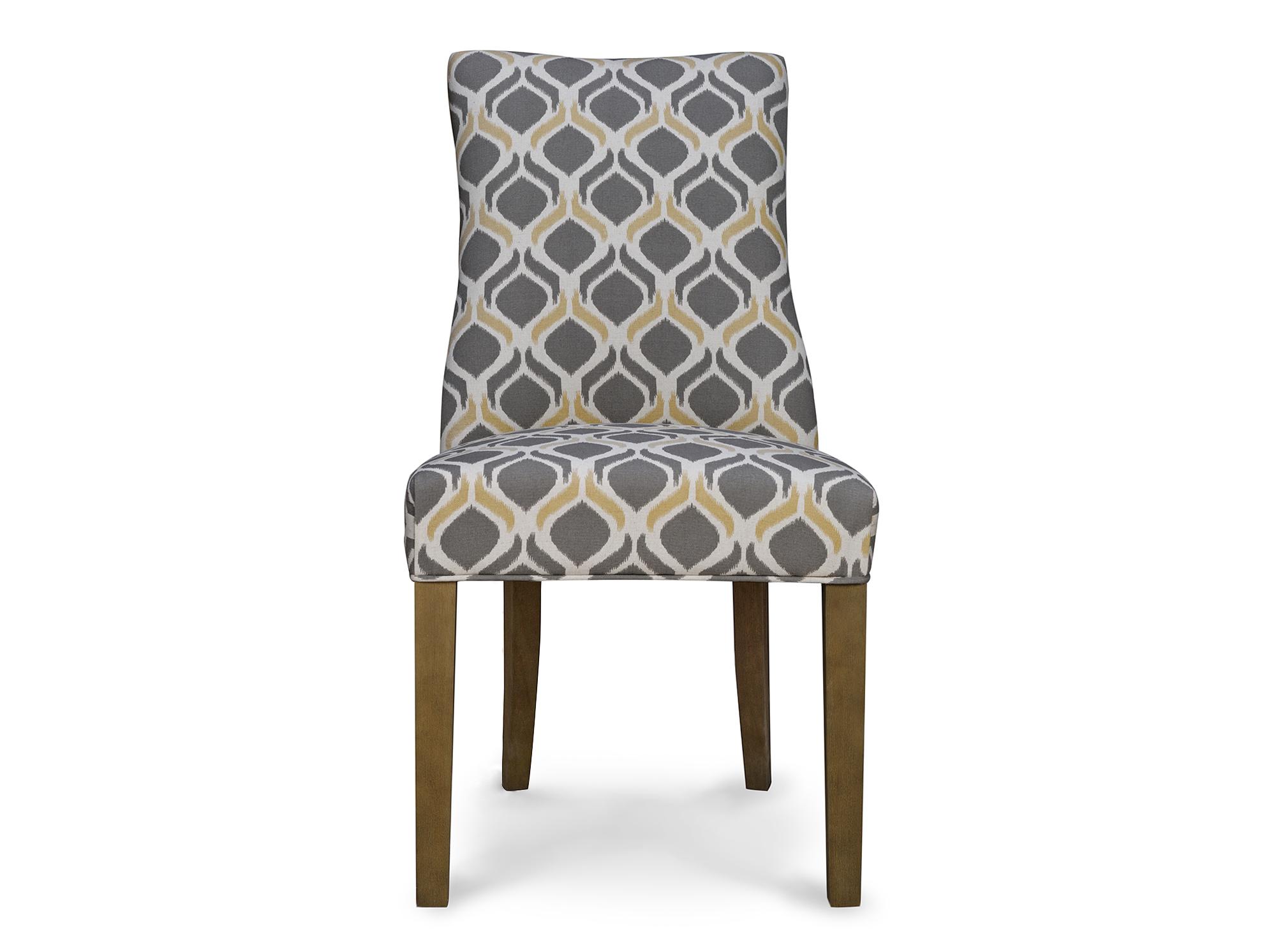 Стул Martin side сhairОбеденные стулья<br>&amp;quot;Martin Side Chair&amp;quot; ? идеальное дополнение для скандинавских интерьеров в эко-стиле. В оформлении этого стула присутствует все то, к чему тяготеет нордический дизайн. Естественная природная красота выражена в изящных деревянных ножках, а сдержанная строгость и холодность ? в серо-белой гамме текстильной обивки. Тепла и света в современном силуэте тоже хватает ? ненавязчивые желтые акценты придают оптимизм и завораживающую лучезарность противоречивому образу.<br><br>Material: Текстиль<br>Ширина см: 51<br>Высота см: 99<br>Глубина см: 67