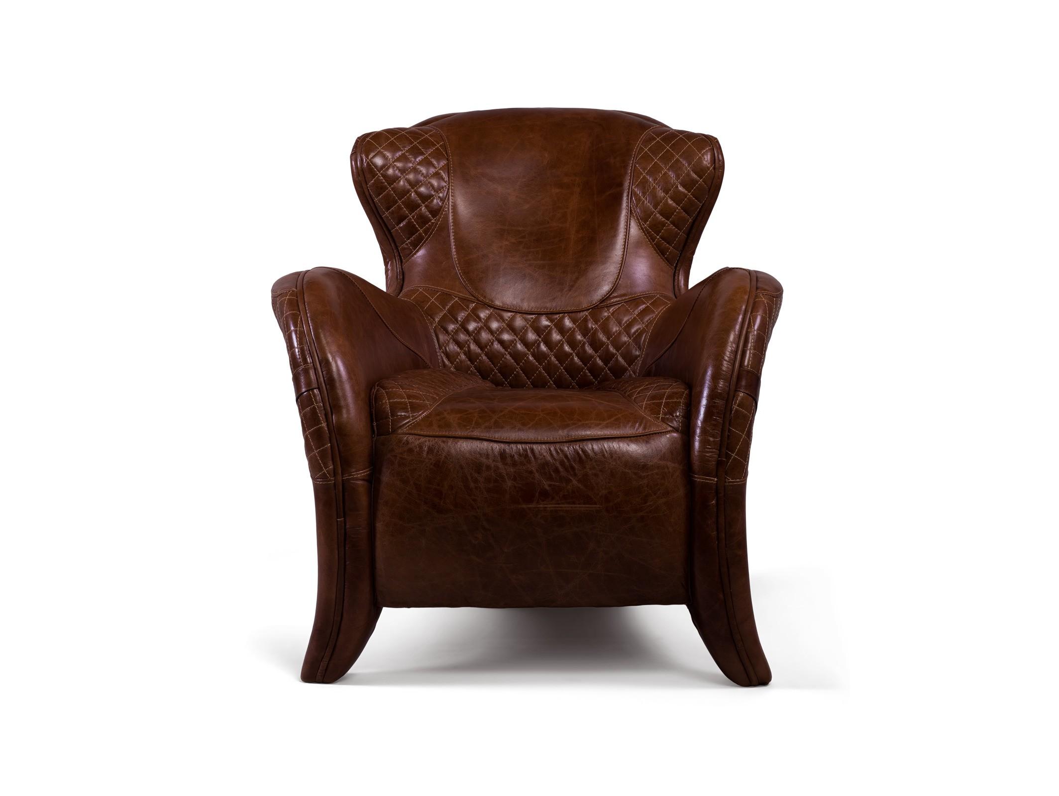 Кресло Saddle Easy ChairИнтерьерные кресла<br><br><br>Material: Кожа<br>Ширина см: 80<br>Высота см: 84<br>Глубина см: 92