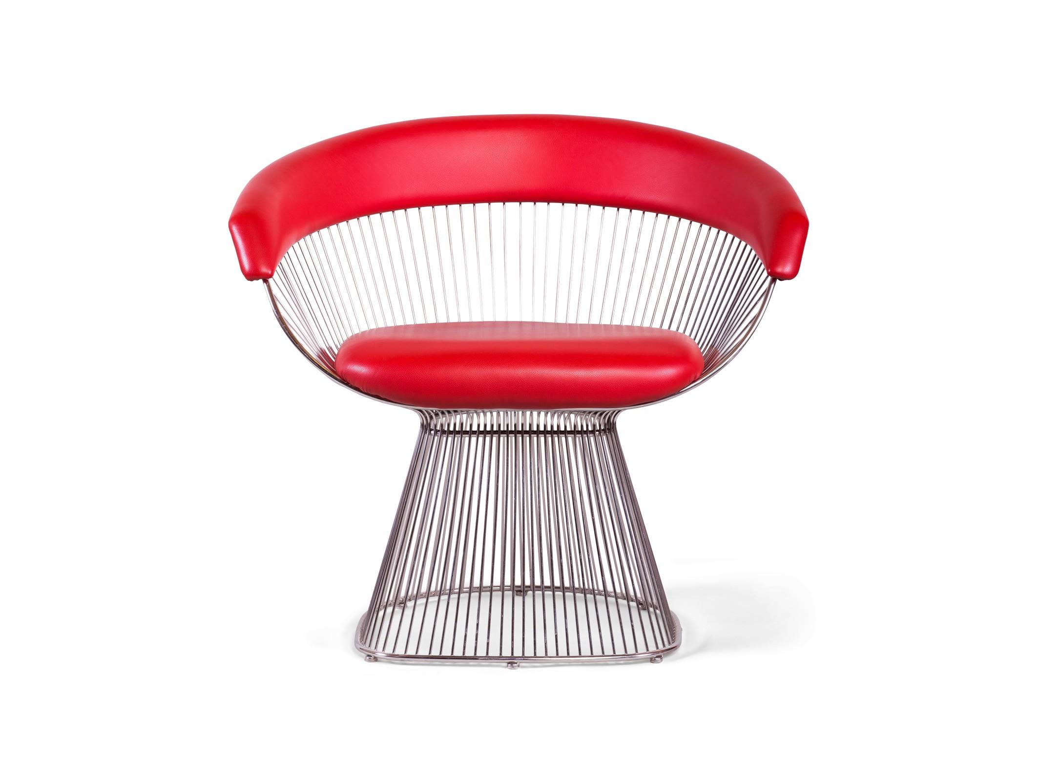 Кресло PlatnerИнтерьерные кресла<br><br><br>Material: Кожа<br>Ширина см: 85<br>Высота см: 76<br>Глубина см: 65