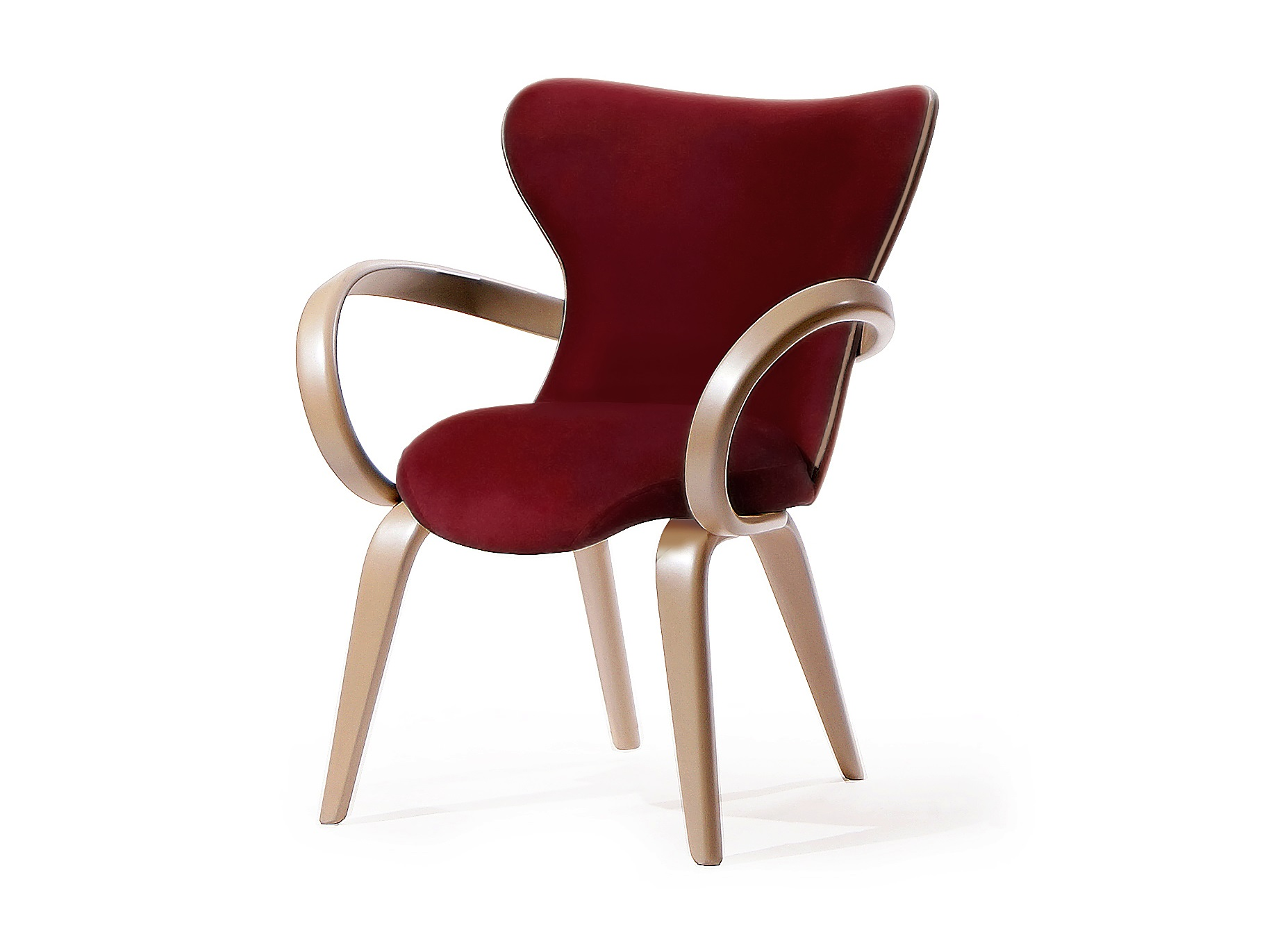 Стул  AprioriСтулья с подлокотниками<br>Изящный стул с подлокотниками из гнутого дерева. При сохранении визуальной легкости стул  остается  прочный и удобный.<br><br>Material: Береза<br>Ширина см: 62<br>Высота см: 85<br>Глубина см: 75