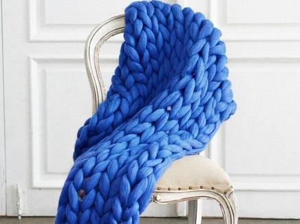 Плед zefir (zefir) синий 100.0x150.0 см.