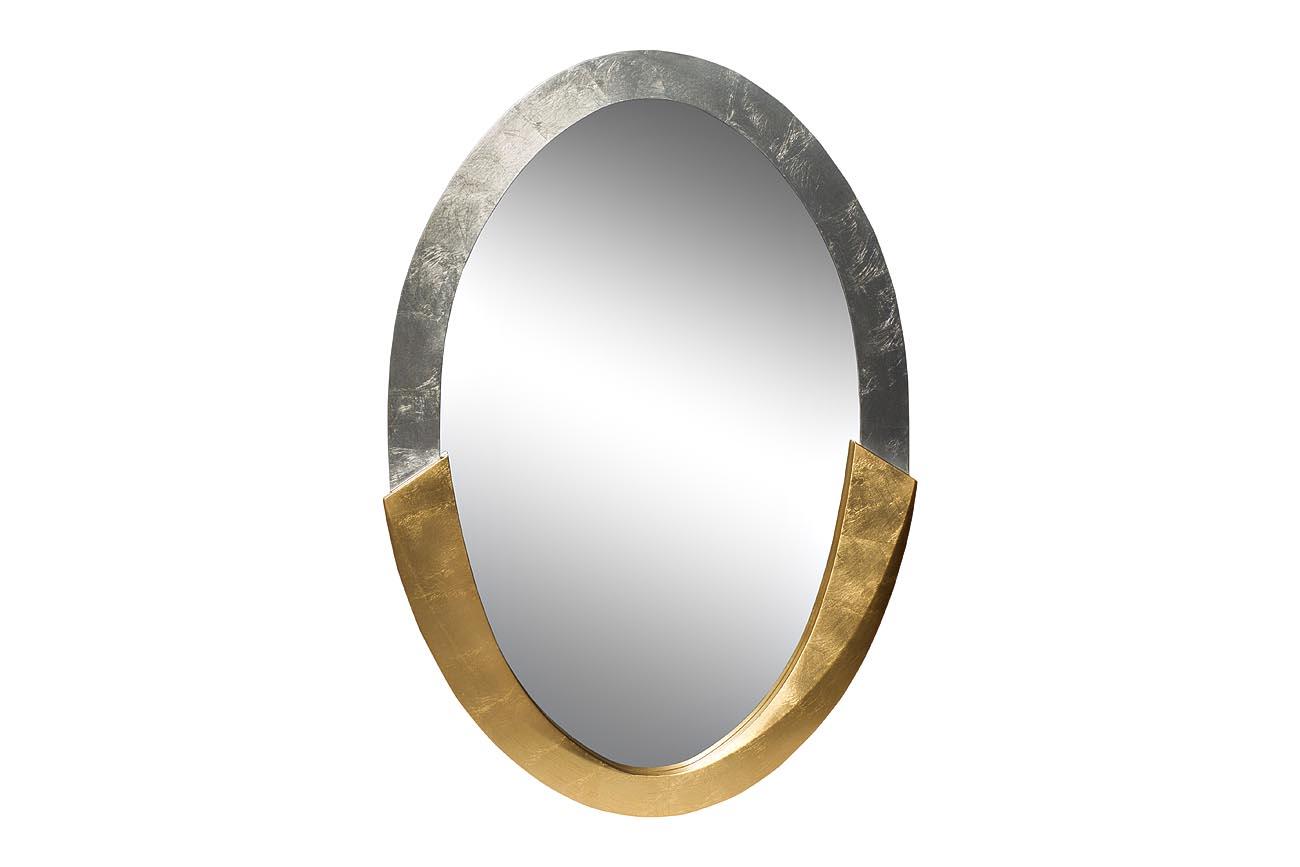 Зеркало Серебро+ЗолотоНастенные зеркала<br>Говорят, что золото с серебром смешивать нельзя. Это зеркало доказывает, что еще как можно. Эта стильная рама не требует резьбы или других украшений: цвет говорит сам за себя.&amp;amp;nbsp;<br><br>Material: МДФ<br>Ширина см: 1<br>Высота см: 114<br>Глубина см: 4