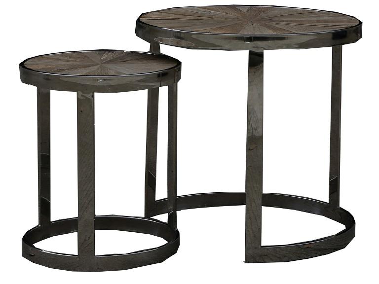 Набор кофейных столиков (2шт.)Кофейные столики<br>&amp;lt;div&amp;gt;Компактный набор из двух столиков, дополняющих друг друга, оживят вашу гостиную приятным оттенком, круглой формой и минимализмом деталей.&amp;lt;/div&amp;gt;&amp;lt;div&amp;gt;&amp;lt;br&amp;gt;&amp;lt;/div&amp;gt;&amp;lt;div&amp;gt;Материал: нержавеющая сталь и старый вяз&amp;lt;/div&amp;gt;&amp;lt;div&amp;gt;Размеры:&amp;lt;/div&amp;gt;&amp;lt;div&amp;gt;1) 60x60 см.&amp;lt;/div&amp;gt;&amp;lt;div&amp;gt;2) 40х50 см.&amp;lt;/div&amp;gt;<br><br>Material: Дерево<br>Высота см: 60