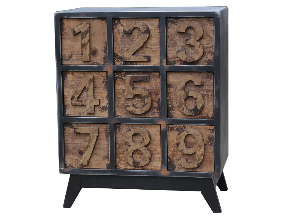 Комод ЦифрыИнтерьерные комоды<br>&amp;lt;div&amp;gt;Небольшой комод с ящиками с нумерацией в стиле лофт с характерной грубой отделкой - необычный элемент, который привлечет внимание в интерьере вашей комнаты.&amp;lt;/div&amp;gt;&amp;lt;div&amp;gt;&amp;lt;br&amp;gt;&amp;lt;/div&amp;gt;&amp;lt;div&amp;gt;Материал: сосна, пихта, металл&amp;lt;/div&amp;gt;<br><br>Material: Дерево<br>Ширина см: 70.0<br>Высота см: 85.0<br>Глубина см: 40.0