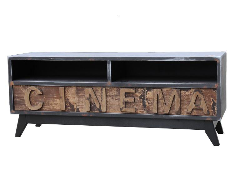 Тумба под телевизор CinemaТумбы под TV<br>&amp;lt;div&amp;gt;Тумба под телевизор в стиле лофт с характерной грубой отделкой эффектно будет смотреться в вашей гостиной.&amp;lt;/div&amp;gt;&amp;lt;div&amp;gt;&amp;lt;br&amp;gt;&amp;lt;/div&amp;gt;&amp;lt;div&amp;gt;Материал: сосна, пихта, металл&amp;lt;/div&amp;gt;<br><br>Material: Дерево<br>Ширина см: 132.0<br>Высота см: 37.0<br>Глубина см: 52.0