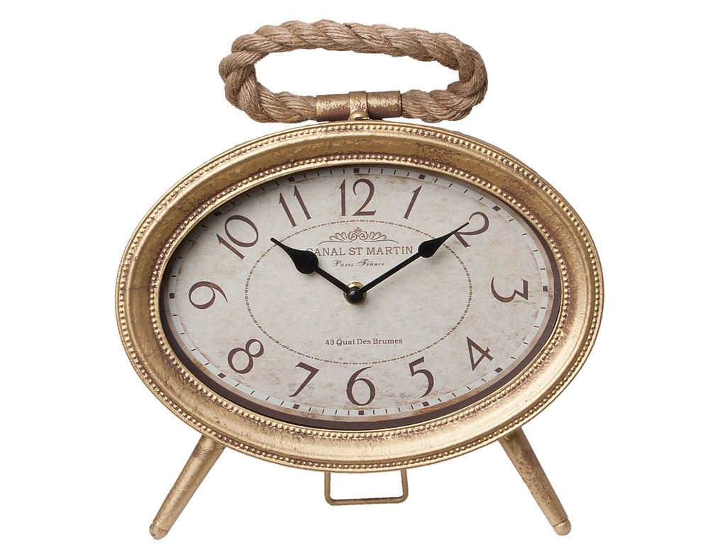 ЧасыНастольные часы<br><br><br>Material: Металл<br>Ширина см: 28.0<br>Высота см: 27.0<br>Глубина см: 8.0