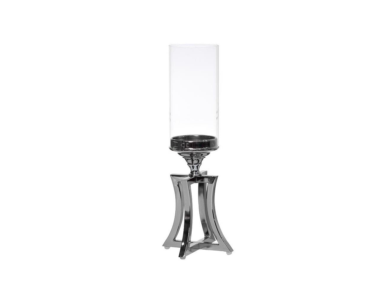 ПодсвечникПодсвечники<br>Материалы: никелированный металл, стекло<br><br>Material: Металл<br>Высота см: 41.0