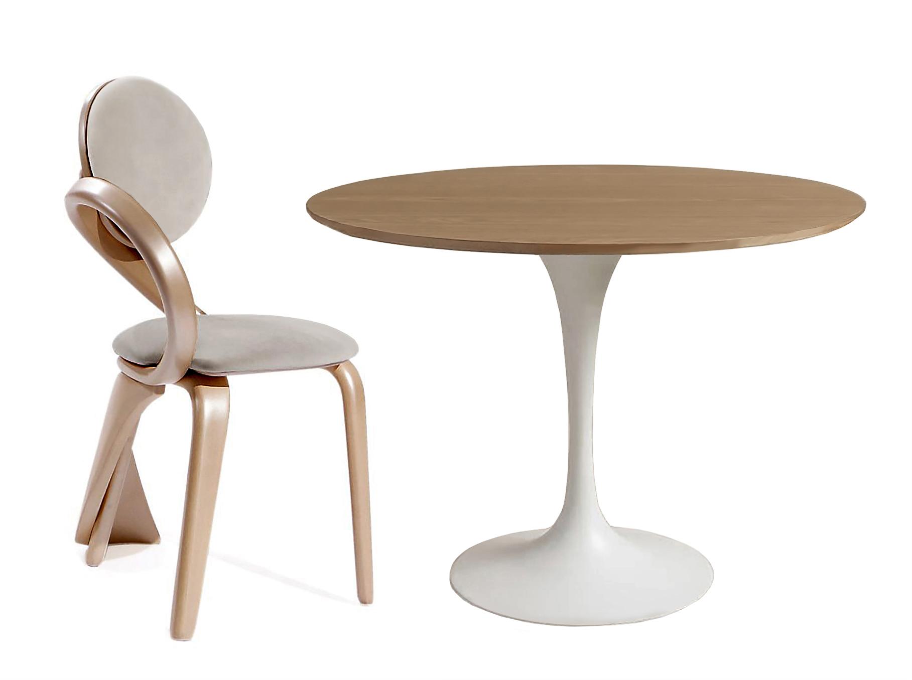 Обеденная группа Apriori TКомплекты для столовой<br>Обеденный круглый стол с лаконичным основанием из акрилового камня. <br>Стол в комплекте со стульями серии  &amp;quot;Бразо К&amp;quot;. Такой яркий деревянный стул будет актуален для современного интерьера или стиля лофт. Он отлично подойдёт для дома, лоджии, сада, а также для кафе и баров.&amp;lt;div&amp;gt;&amp;lt;br&amp;gt;&amp;lt;/div&amp;gt;&amp;lt;div&amp;gt;Размеры стола : 90/77 см.&amp;lt;/div&amp;gt;&amp;lt;div&amp;gt;Материал стола: акриловый камень&amp;amp;nbsp;&amp;lt;/div&amp;gt;&amp;lt;div&amp;gt;Размеры стула: 54х55х86 см.&amp;amp;nbsp;&amp;lt;/div&amp;gt;&amp;lt;div&amp;gt;Материал стула: массив березы.&amp;amp;nbsp;&amp;lt;/div&amp;gt;&amp;lt;div&amp;gt;&amp;lt;br&amp;gt;&amp;lt;/div&amp;gt;<br><br>Material: Дерево<br>Ширина см: 55.0<br>Высота см: 86.0<br>Глубина см: 54.0