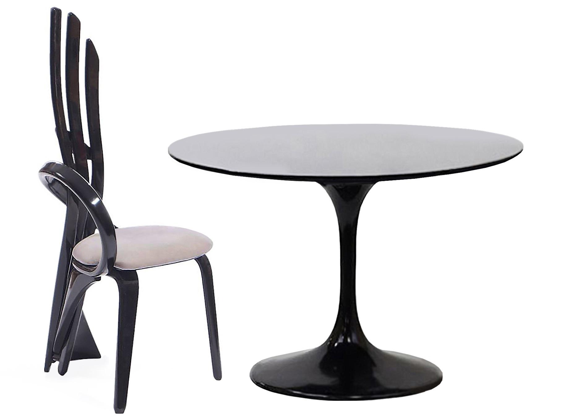 Обеденная группа Apriori TКомплекты для столовой<br>Обеденный круглый стол с лаконичным основанием из акрилового камня. <br>Стол в комплекте со стульями серии  Бразо М. Такой яркий деревянный стул будет актуален для современного интерьера или стиля лофт. Он отлично подойдёт для дома, лоджии, сада, а также для кафе и баров.Размеры стола : 90/77 см.&amp;nbsp;Материал стола: акриловый камень&amp;nbsp;Размеры стула: 57х52х114см.&amp;nbsp;Материал стула: массив березы.&amp;nbsp;<br><br>kit: None<br>gender: None