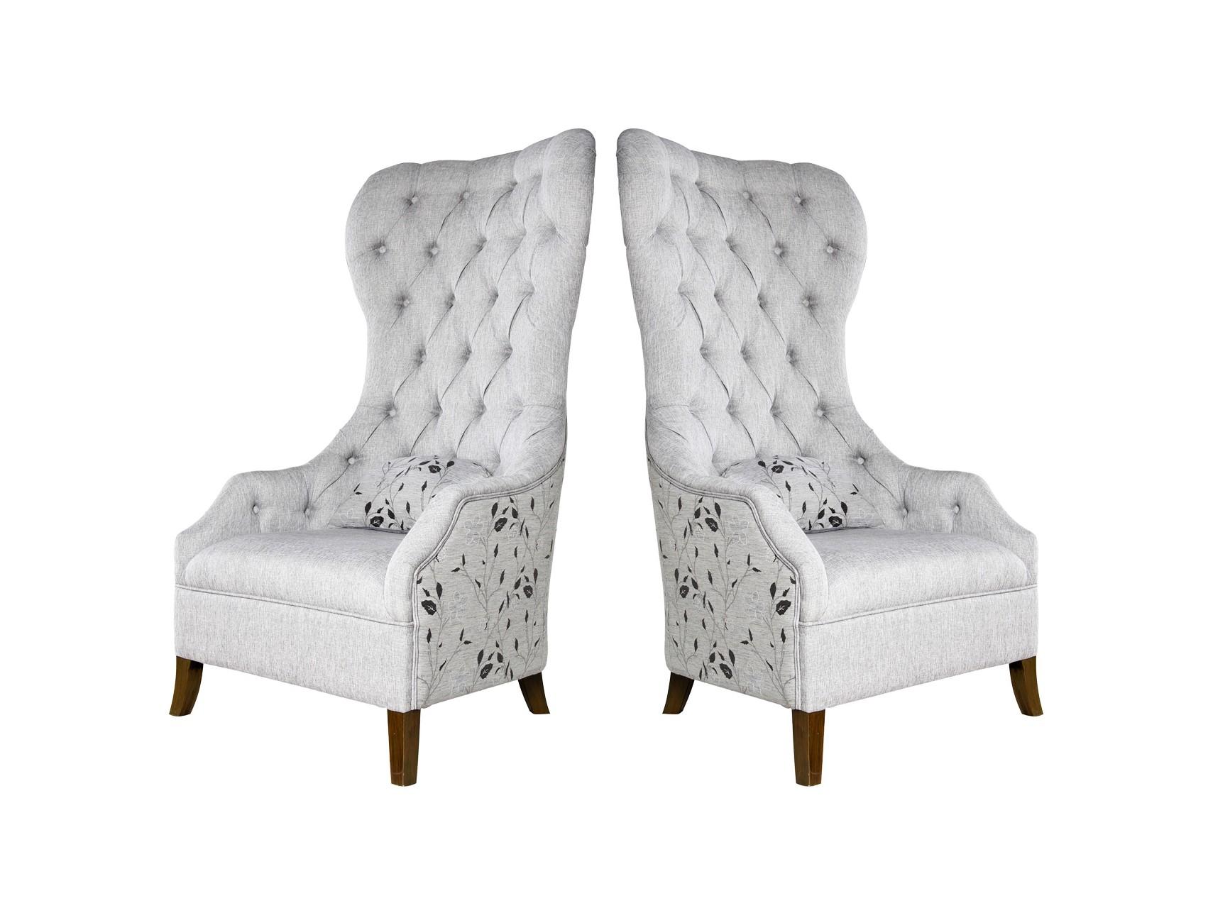 Набор кресел (2 шт)Кресла с высокой спинкой<br><br><br>Material: Текстиль<br>Ширина см: 82<br>Высота см: 148<br>Глубина см: 72
