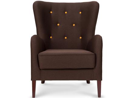 Кресло moriarty (myfurnish) коричневый 76x102x90 см.