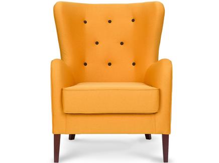 Кресло moriarty (myfurnish) желтый 76x102x90 см.