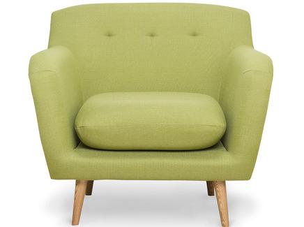Кресло oslo (myfurnish) зеленый 92x85x100 см.