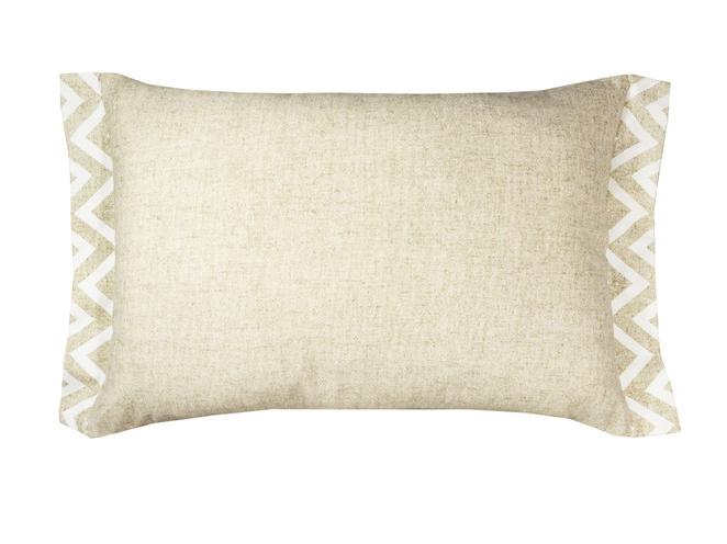 Подушка Зиг-ЗагПрямоугольные подушки и наволочки<br>Декоративная подушка   со съемным чехлом.<br><br>Material: Хлопок<br>Ширина см: 60<br>Глубина см: 40