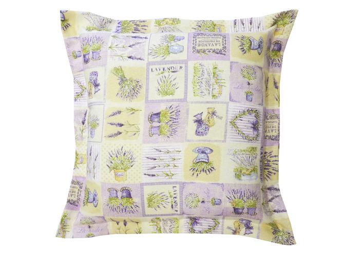 Подушка LavenderКвадратные подушки и наволочки<br>Декоративная подушка  со съемным чехлом на молнии и отделкой ушки по сторонам.  Испанский хлопок  цветочный дизайн.<br><br>Material: Хлопок<br>Ширина см: 45<br>Глубина см: 45