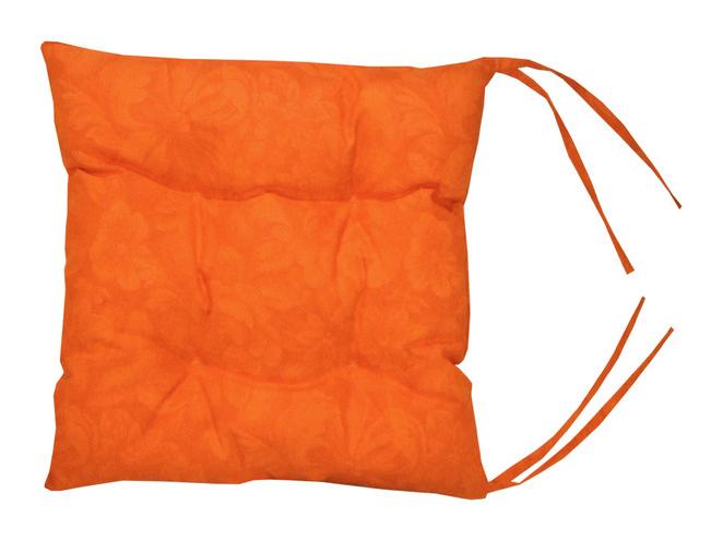 Подушка на стул LorretКвадратные подушки и наволочки<br>Подушка на стул прекрасное дополнение для уюта. Ширина подушки 43см, высота 6 см. Плотная. Крепления к стулу - завязки.<br><br>Material: Хлопок<br>Ширина см: 43.0<br>Глубина см: 43.0