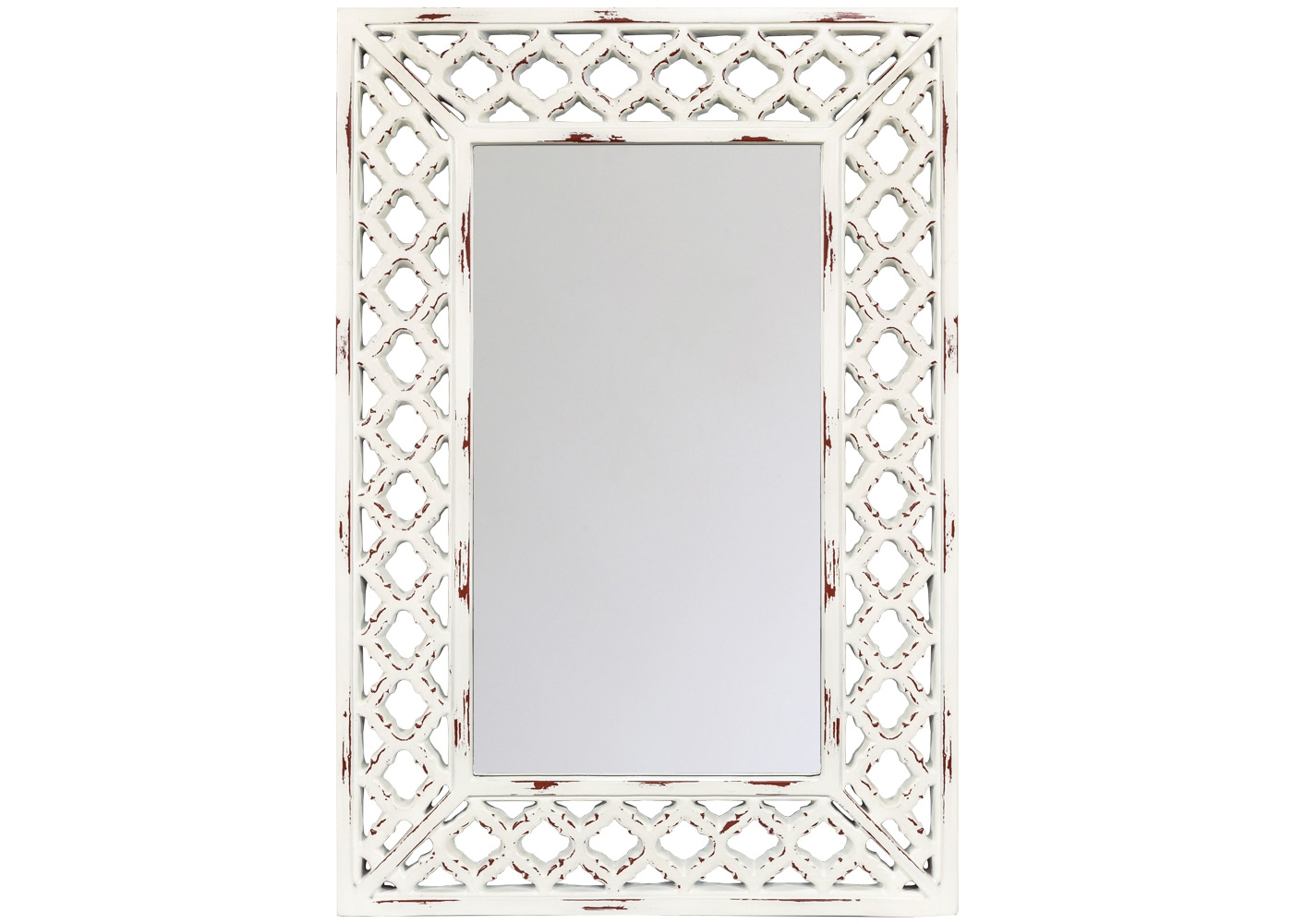 Настенное зеркало «Куин»Настенные зеркала<br>Для предметов интерьера, подражающих вековым орнаментам, необходима специальная обработка поверхности, имитирующая эффект старины: благородная патина обладает специфическим обаянием и теплом. Ещё одним достоинством зеркала &amp;quot;Куин&amp;quot; выступает элегантная фацетная грань, окружающая периметр зеркала и придающая отражениям объемность и глубину.<br><br>Material: Полиуретан<br>Ширина см: 66.0<br>Высота см: 96.0<br>Глубина см: 3.0