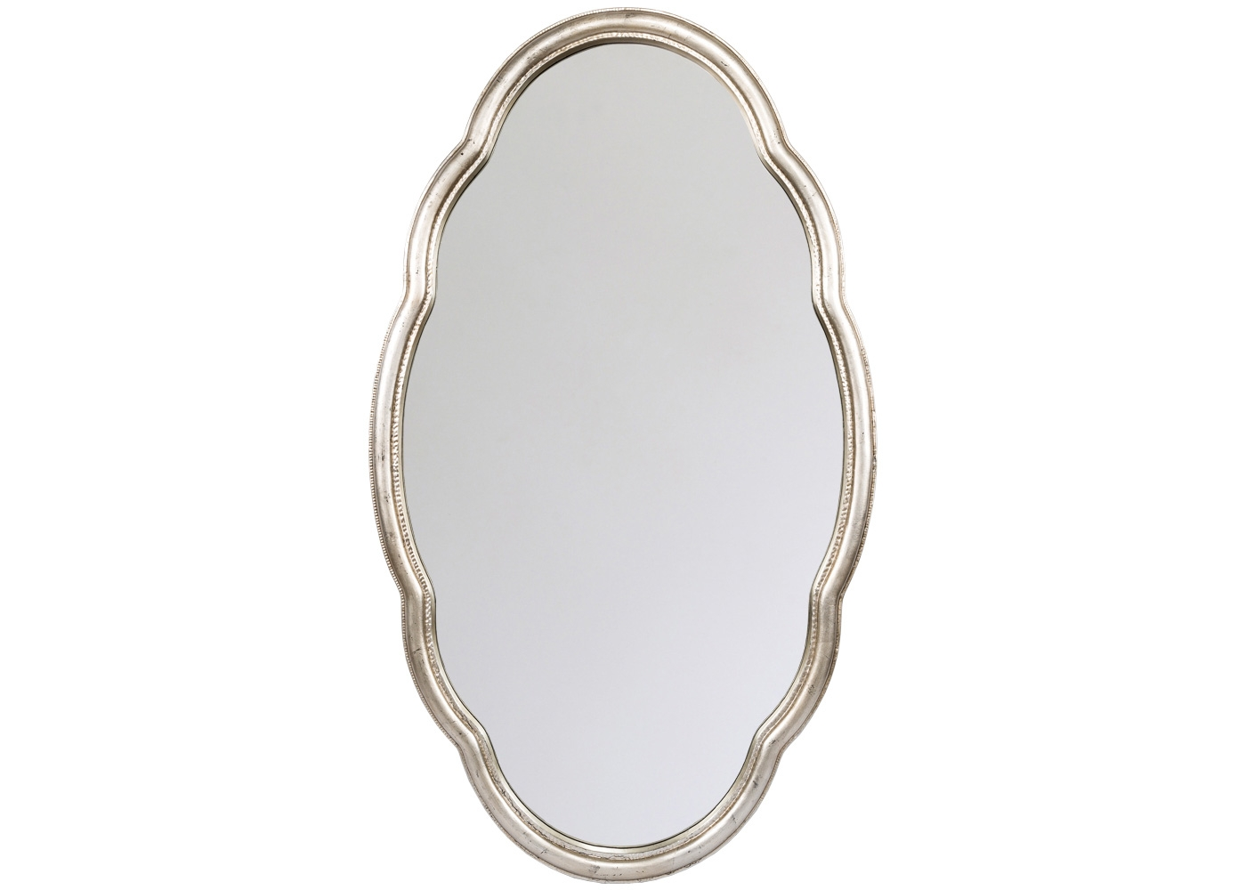 Настенное зеркало «Марселла»Настенные зеркала<br>Классический овал, раскрепощенный плавной волной, обретает романтичность и атмосферную легкость, навеянную матовым платиновым оттенком. Расположив зеркало &amp;quot;Марселла&amp;quot; перпендикулярно окну, Вы откроете дому небесную свежесть и естественный солнечный свет. Рама изготовлена из полиуретана, - экологически безвредного, прочного и долговечного материала. Полиуретан достоверно имитирует любые материалы. На первый взгляд, оправа &amp;quot;Марселла&amp;quot; не отличается от металлической.<br><br>Material: Полиуретан<br>Ширина см: 70.0<br>Высота см: 120.0<br>Глубина см: 4.0