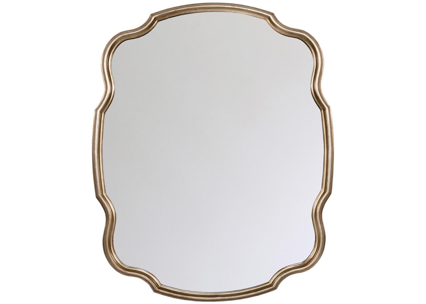 Настенное зеркало «Каледон»Настенные зеркала<br>Гармоничная волнистая оправа акцентирована филигранным контурным фацетом, придающим зеркалу объемность и элитный шарм. Широкие зеркала магически преображают помещения, углубляя простор и освещая отраженным светом. Старинная гербовая форма находчиво преображена вкусами современного английского модерна: строгость и благородство обретают атмосферную легкость и романтичность. Полиуретан, из которого изготовлена рама, достоверно имитирует любые материалы. На первый взгляд, оправа &amp;quot;Каледон&amp;quot; не отличается от металлической.<br><br>Material: Полиуретан<br>Ширина см: 87.0<br>Высота см: 108.0<br>Глубина см: 3.0