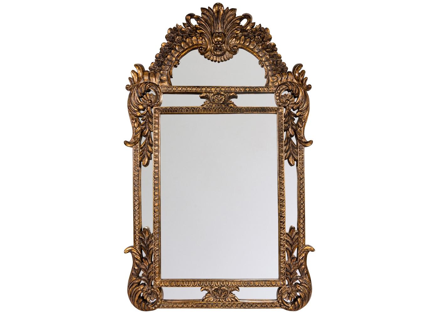 Настенное зеркало «Дакота»Настенные зеркала<br>Зеркало &amp;quot;Дакота&amp;quot; - достоверный экземпляр эпохи Возрождения, наградившей предметы интерьера пышными архитектурными деталями. Зеркало поражает роскошным многоярусным рельефом и поистине дворцовыми размерами. Сдержанный блеск красного золота задает безупречную гармонию любому интерьерному фону. Зеркало &amp;quot;Дакота&amp;quot; - фаворит гостиной комнаты, столовой, холла и прихожей. Расположившись в спальне, это зеркало тут же превратит её в роскошный будуар.<br><br>Material: Полиуретан<br>Ширина см: 104.0<br>Высота см: 170.0<br>Глубина см: 5.5