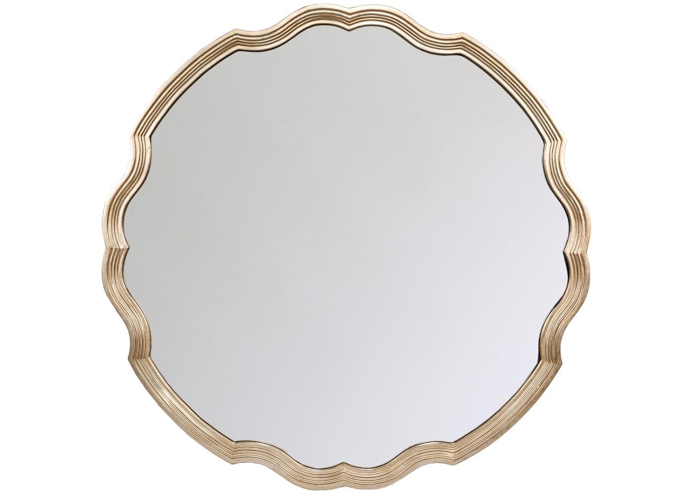 Настенное зеркало «Презент»Настенные зеркала<br>Каскад тонких граней и нежный платиновый оттенок акцентируют глубину и простор, открытые интерьеру зеркалом &amp;quot;Презент&amp;quot;. Просторный размер и безмятежная волнистая форма рекомендуют это зеркало гостиной и столовой, спальне и прихожей, городской квартире и загородному дому. Рама изготовлена из полиуретана, - экологически безвредного, прочного и долговечного материала. Полиуретан достоверно имитирует любые материалы. На первый взгляд, оправа &amp;quot;Презент&amp;quot; не отличается от металлической.<br><br>Material: Полиуретан<br>Ширина см: 101.0<br>Высота см: 101.0<br>Глубина см: 3.5