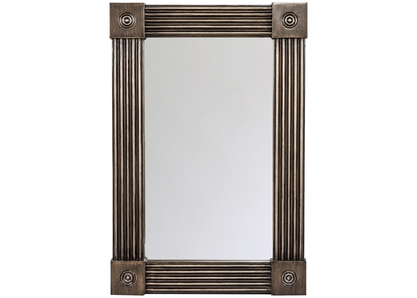 Настенное зеркало «Клейтон»Настенные зеркала<br>Рациональный размер, интеллигентная форма и классический цвет рекомендуют зеркало &amp;quot;Клейтон&amp;quot; любому из домашних помещений: гостиной и ванной комнатам, столовой и спальне, кабинету и холлу. Строгая прямоугольная форма идеально рифмуется с современной цифровой техникой. Прямоугольные зеркала стройнят интерьер, а цвет старого серебра эффектно связывает любое окружение. Обратите внимание на тонкую фацетную грань, подчеркнувшую элегантность полосатого рельефа.<br><br>Material: Полиуретан<br>Ширина см: 62<br>Высота см: 92<br>Глубина см: 3