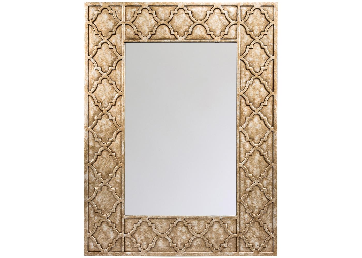 Настенное зеркало «Пальмир»Настенные зеркала<br>Благородство кельтской классики зарекомендовано синонимом высокого вкуса и респектабельности. Этому вторят гармоничный орнамент, сдержанный цвет и деликатная фацетная грань, подчеркнувшая стройность зеркала &amp;quot;Пальмир&amp;quot;. Удобный размер (76 х 101 см) рекомендует это зеркало любому из домашних помещений: гостиной комнате и прихожей, спальне и столовой, холлу и кабинету.<br><br>Material: Полиуретан<br>Ширина см: 76.0<br>Высота см: 101.0<br>Глубина см: 2.0