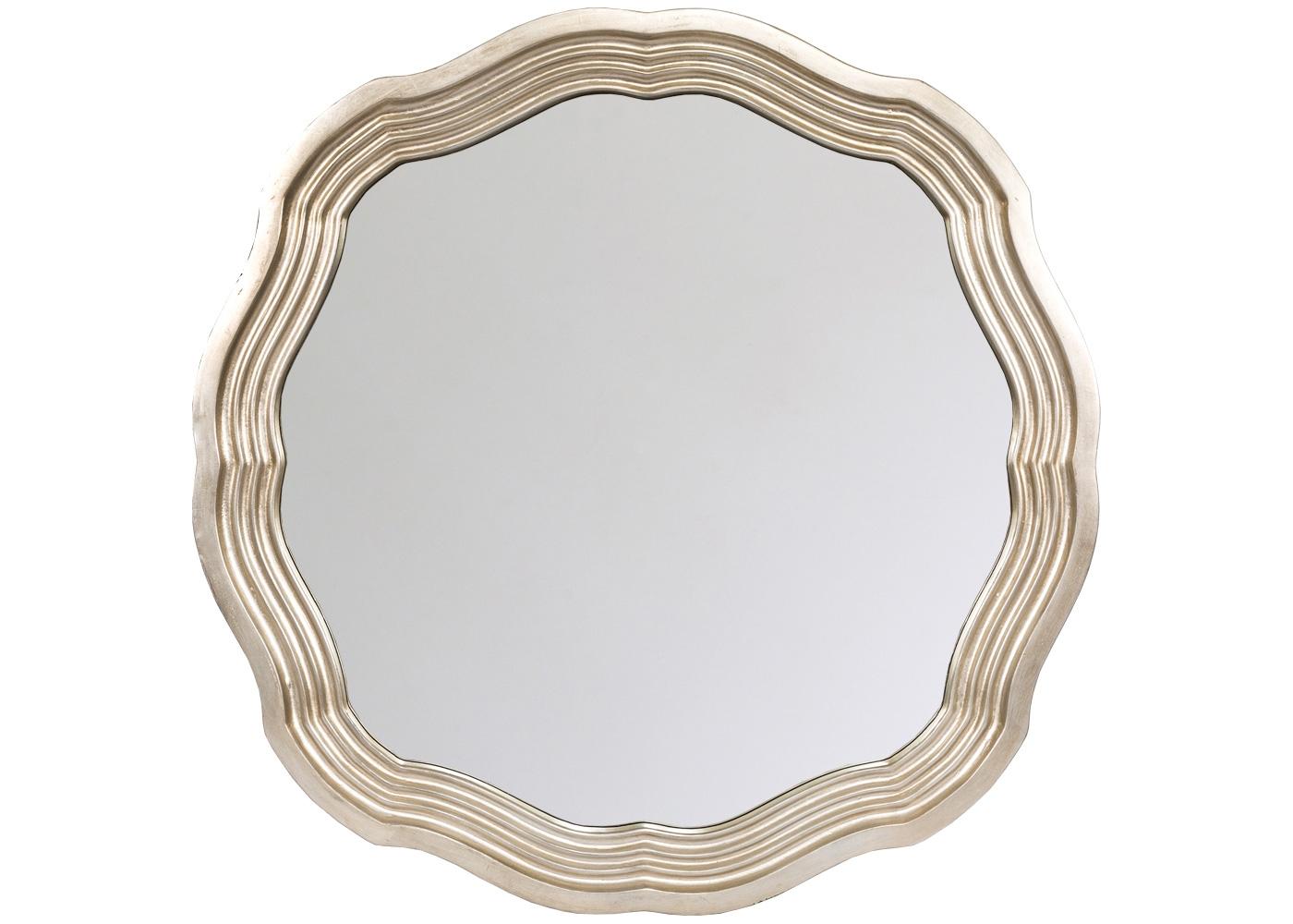 Настенное зеркало «Коктейль»Настенные зеркала<br>Каскад тонких граней и нежный платиновый оттенок акцентируют глубину и простор, открытые интерьеру зеркалом &amp;quot;Коктейль&amp;quot;. Рациональный размер и безмятежная волнистая форма рекомендуют это зеркало гостиной и столовой, спальне и ванной комнате, холлу и прихожей, городской квартире и загородному дому. Рама изготовлена из полиуретана, - экологически безвредного, прочного и долговечного материала. Полиуретан достоверно имитирует любые материалы. На первый взгляд, оправа &amp;quot;Коктейль&amp;quot; не отличается от металлической.<br><br>Material: Полиуретан<br>Ширина см: 83.0<br>Высота см: 83.0<br>Глубина см: 5.5