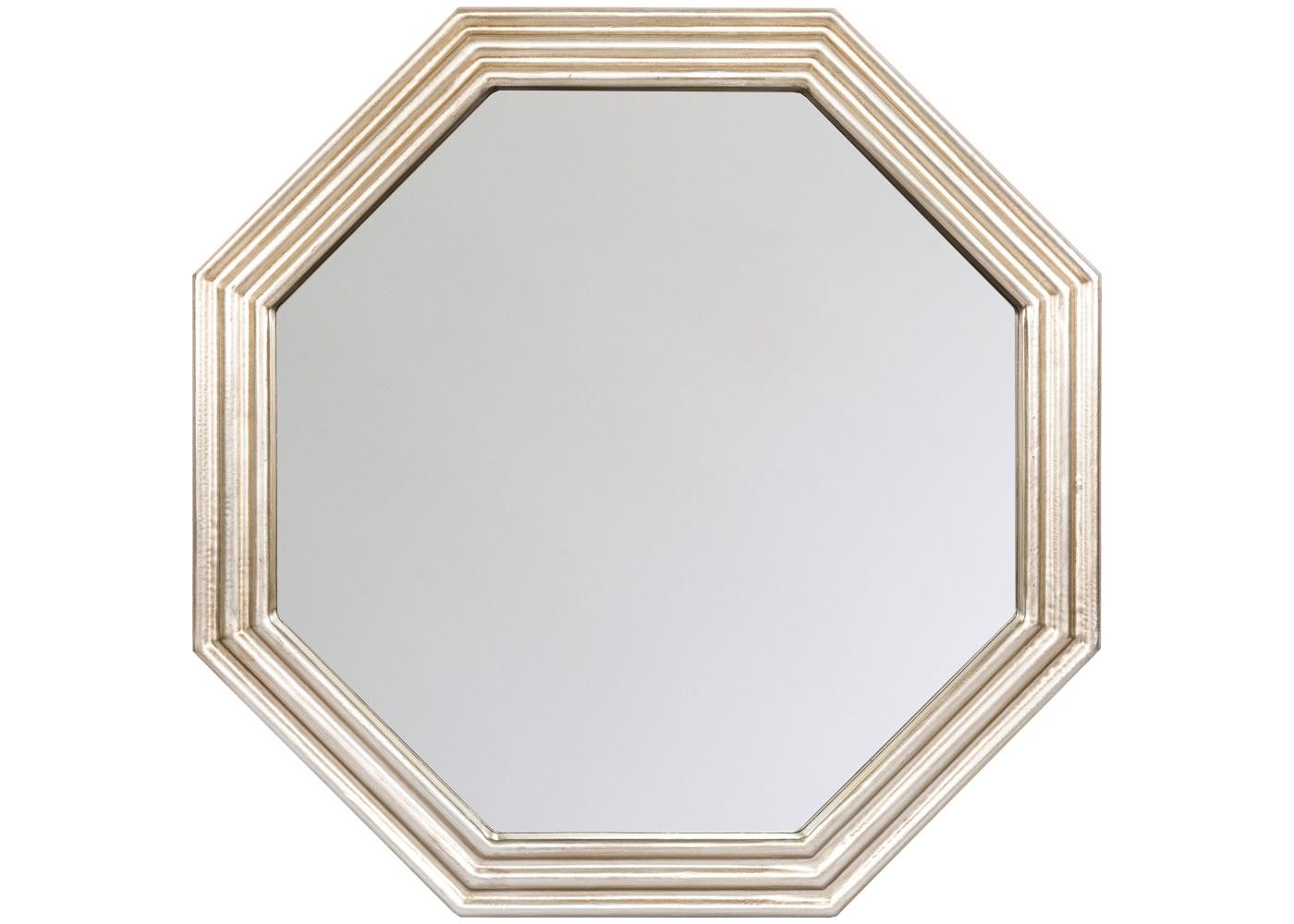 Настенное зеркало «Академи»Настенные зеркала<br>Зеркало &amp;quot;Академи&amp;quot; располагает интерьер к объему и свету. Этому способствуют мягкий платиновый цвет оправы, ступенчатые грани и широкая фацетная грань, награждающая отражения эффектом глубины. Удобный размер и гармоничная форма разместят это зеркало в любом из домашних помещений. Особые рекомендации - ванной комнате и спальне, где золотистая оправа роскошно сочетается со шкатулками, парфюмерными и косметическими флаконами.<br><br>Material: Полиуретан<br>Ширина см: 76.5<br>Высота см: 76.5<br>Глубина см: 4.0