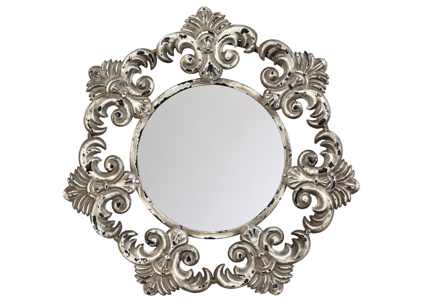 Настенное зеркало «Монришар»Настенные зеркала<br>Зеркало Монришар - баловень дизайнерской фантазии, наградившей его массой позитивных прототипов. Романтикам и оптимистам на выбор предлагаются образы солнца и звезды, цветка и снежинки, а также королевских лилий, пышно расцветающих в каждой вершине этого удивительного семиугольника. Обладая оптимальным размером, зеркало Монришар уверенно займет место в любом из домашних помещений: ванной комнате, спальне, гостиной, столовой, прихожей, холле.<br><br>kit: None<br>gender: None