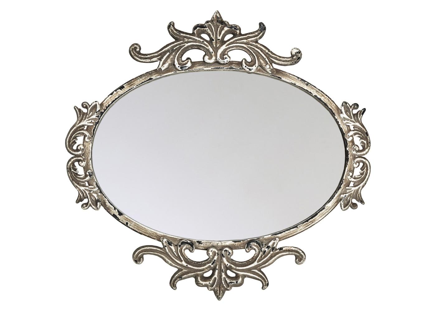 Настенное зеркало «Дюшесс»Настенные зеркала<br>Настенное зеркало &amp;quot;Дюшесс&amp;quot; украшено кропотливым дворцовым узором. Оно уверенно займет место в любом из домашних помещений: ванной комнате, спальне, гостиной, столовой, прихожей, холле. Являясь прямым наследником французского классицизма, зеркало &amp;quot;Дюшесс&amp;quot; не чуждо интерьерам в жанрах ампира, ренессанса, барокко, рококо, романского стиля.  Зная толк в дизайне, не забывайте и о практических удобствах любимого украшения. Металлические рамы экологичны, прочны, долговечны и неприхотливы в уходе.<br><br>Material: Металл<br>Ширина см: 35.0<br>Высота см: 36<br>Глубина см: 2.0