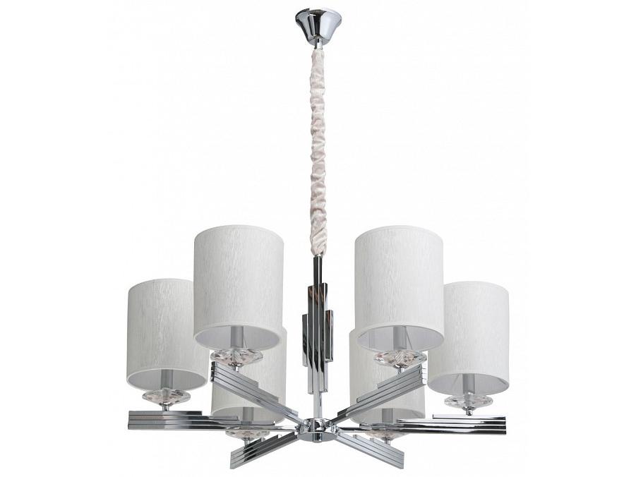 Подвесная люстра ПалермоЛюстры подвесные<br>&amp;lt;div&amp;gt;Вид цоколя: E14&amp;lt;/div&amp;gt;&amp;lt;div&amp;gt;Мощность: 40W&amp;lt;/div&amp;gt;&amp;lt;div&amp;gt;Количество ламп:&amp;amp;nbsp; 6(нет в комплекте)&amp;lt;/div&amp;gt;<br><br>Material: Текстиль<br>Высота см: 146.0