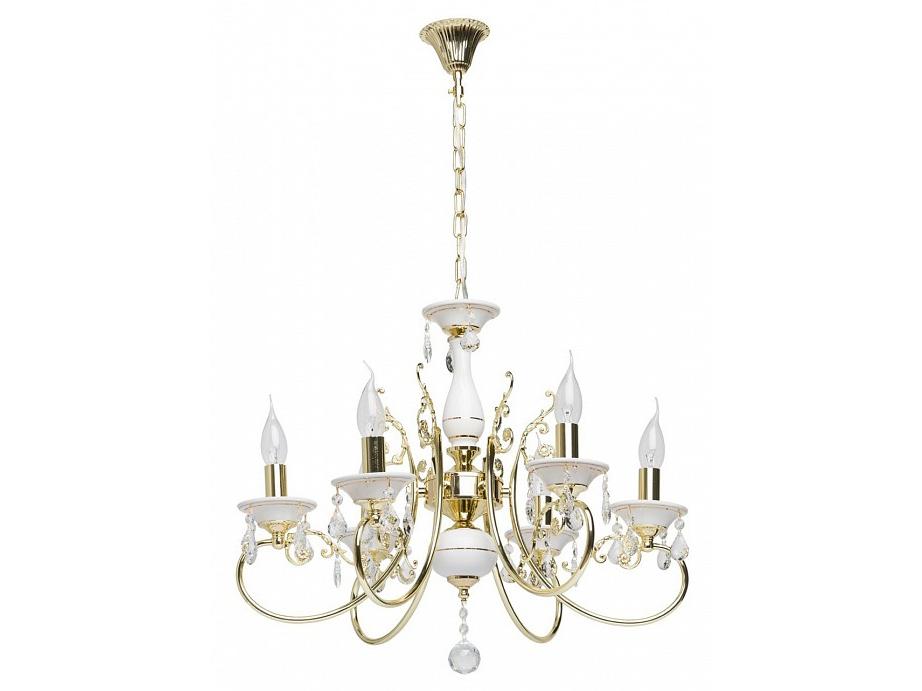 Подвесная люстра СвечаЛюстры подвесные<br>Вид цоколя: E14Мощность: 60WКоличество ламп: 6 (нет в комплекте)