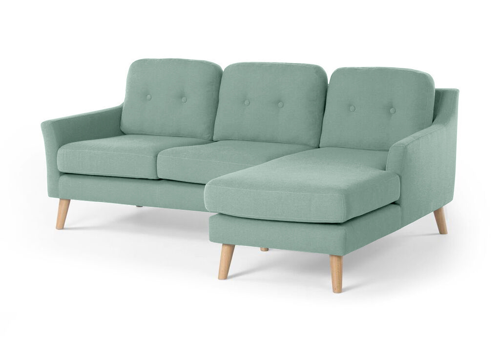 Myfurnish угловой модульный диван olly бирюзовый  76706/23
