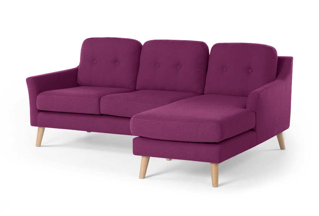 Myfurnish угловой диван olly фиолетовый  76710/27