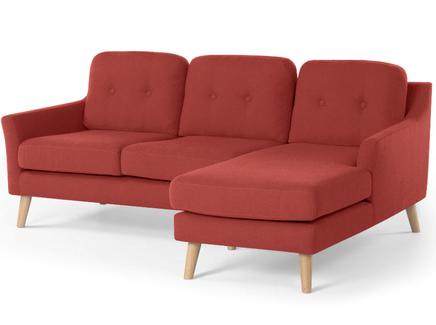 Угловой диван olly (myfurnish) красный 204x83x132 см.