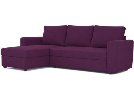 Угловой диван-кровать marble (myfurnish) фиолетовый 243x83x152 см.
