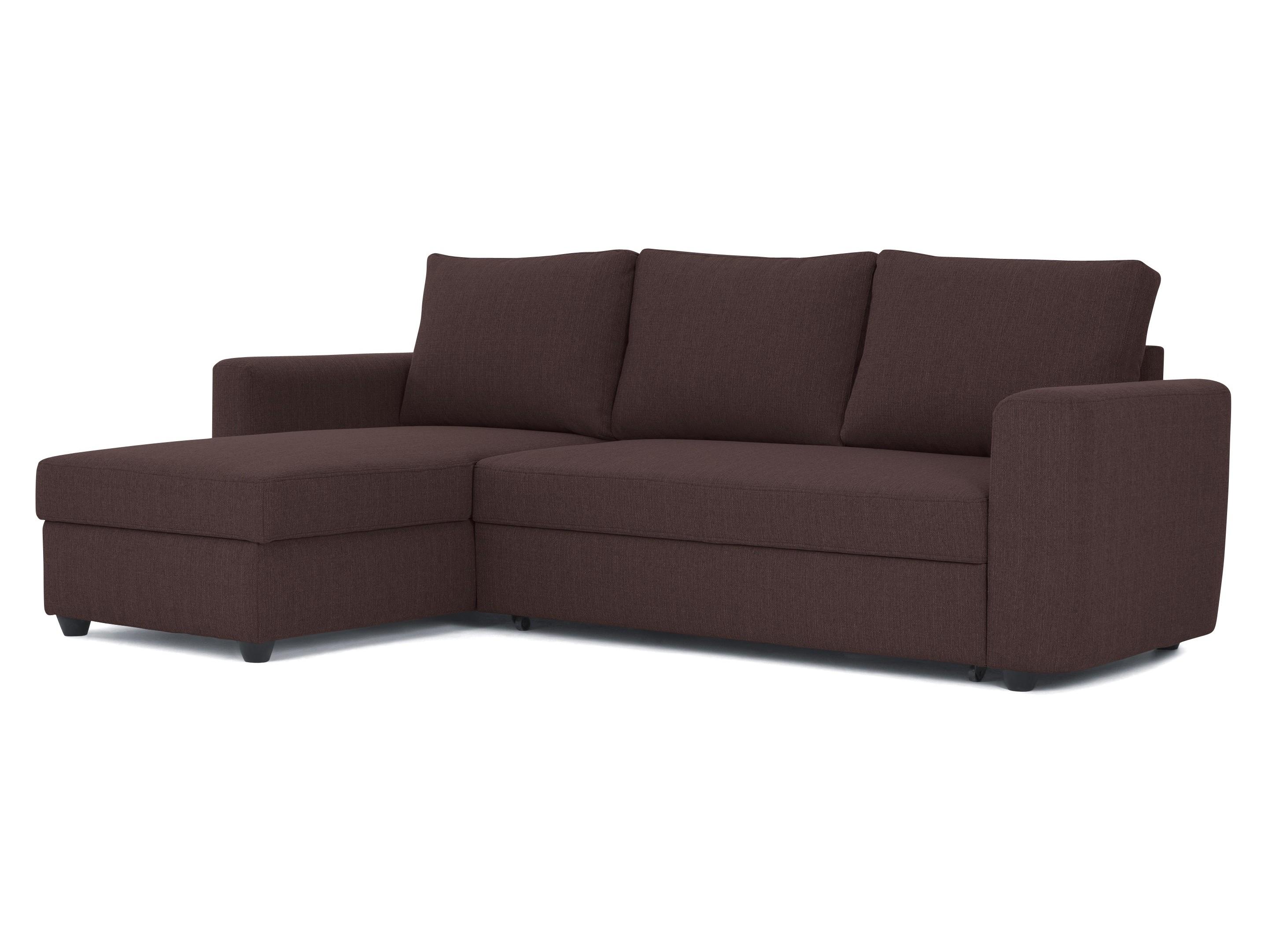 Myfurnish угловой диван-кровать marble коричневый 76809/11