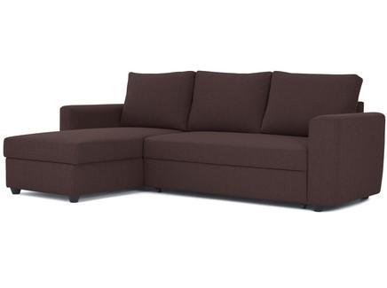 Угловой диван-кровать marble (myfurnish) коричневый 243x83x152 см.