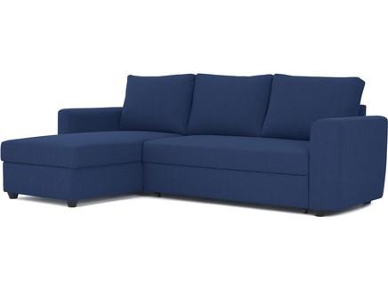 Угловой диван-кровать marble (myfurnish) синий 243x83x152 см.