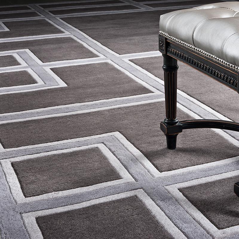 КоверПрямоугольные ковры<br>Ковер Carpet Burban выполнен из 100% новозелландской шерсти. Ручная работа.<br><br>Material: Шерсть