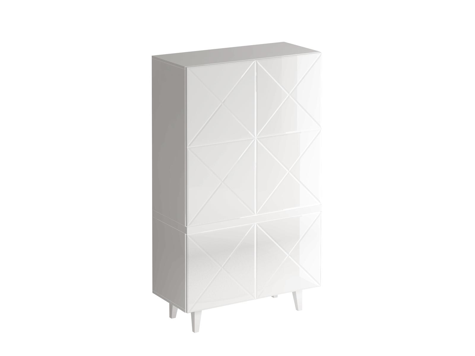 Шкаф KristalБельевые шкафы<br>Шкаф комбинированный для гостиной.Дверцы открываются по принципу «нажал - открыл».Фасад - стекло белое<br><br><br>kit: None<br>gender: None