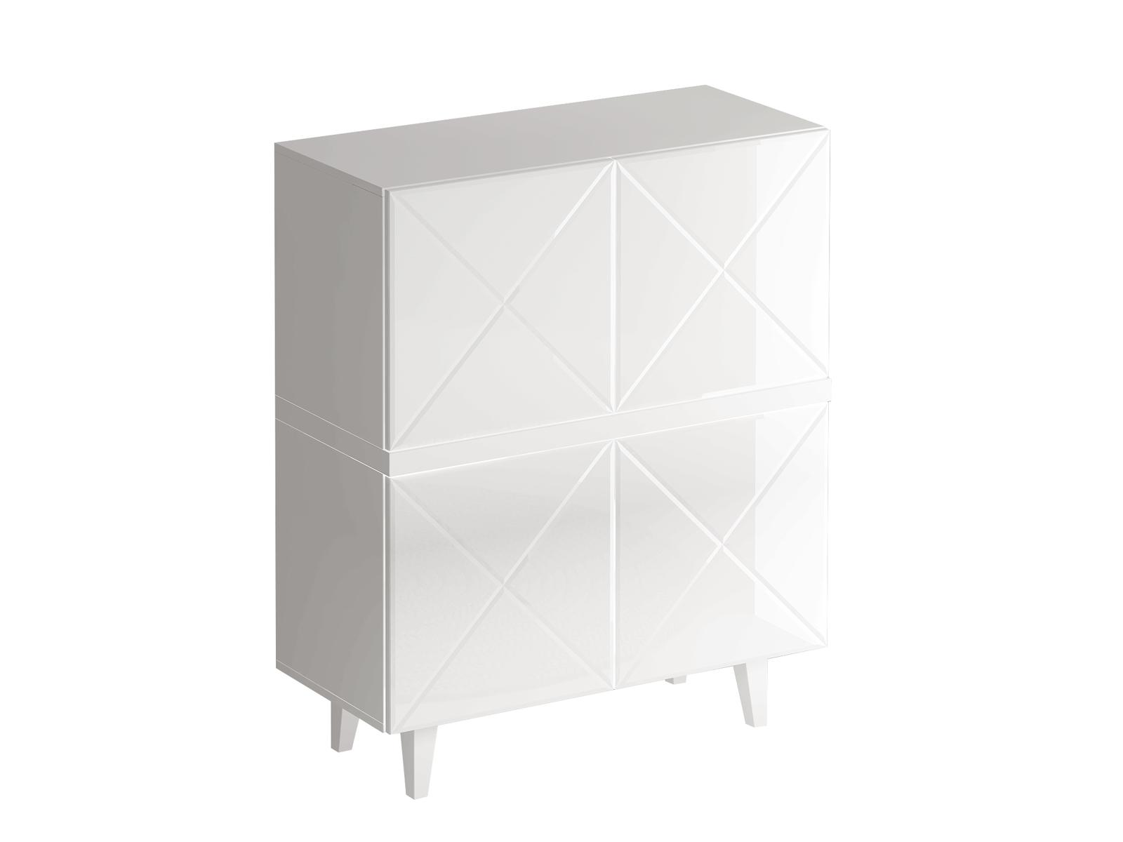 Шкаф KristalБельевые шкафы<br>Шкаф комбинированный для гостиной.&amp;amp;nbsp;&amp;lt;div&amp;gt;Дверцы открываются по принципу «нажал - открыл».&amp;lt;/div&amp;gt;&amp;lt;div&amp;gt;Фасад - стекло белое.&amp;lt;/div&amp;gt;<br><br>Material: ДСП<br>Ширина см: 96<br>Высота см: 117<br>Глубина см: 44