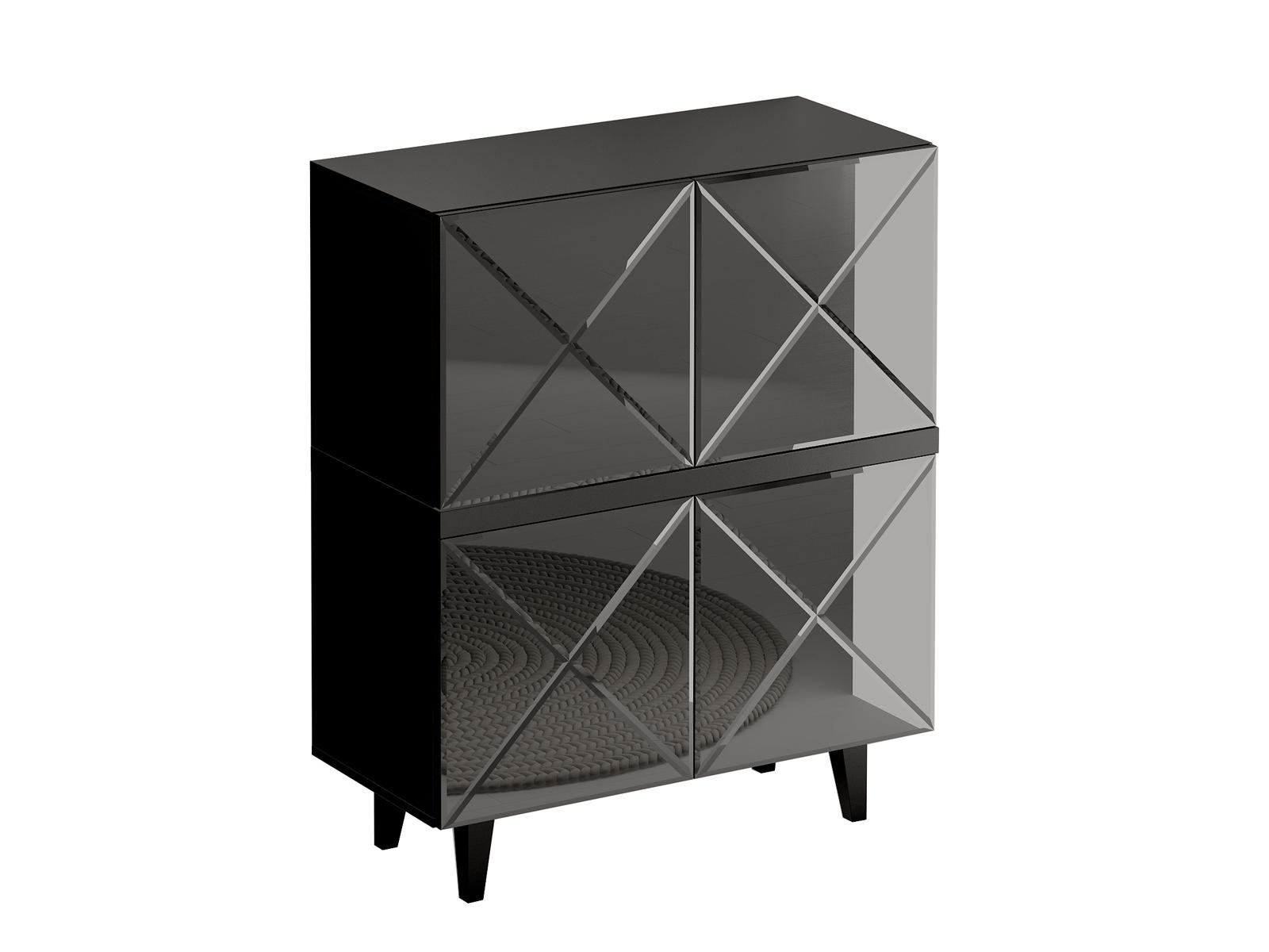 Шкаф KristalБельевые шкафы<br>Шкаф комбинированный для гостиной.&amp;nbsp;Дверцы открываются по принципу «нажал - открыл».Фасад - стекло черное.&amp;nbsp;<br><br>kit: None<br>gender: None