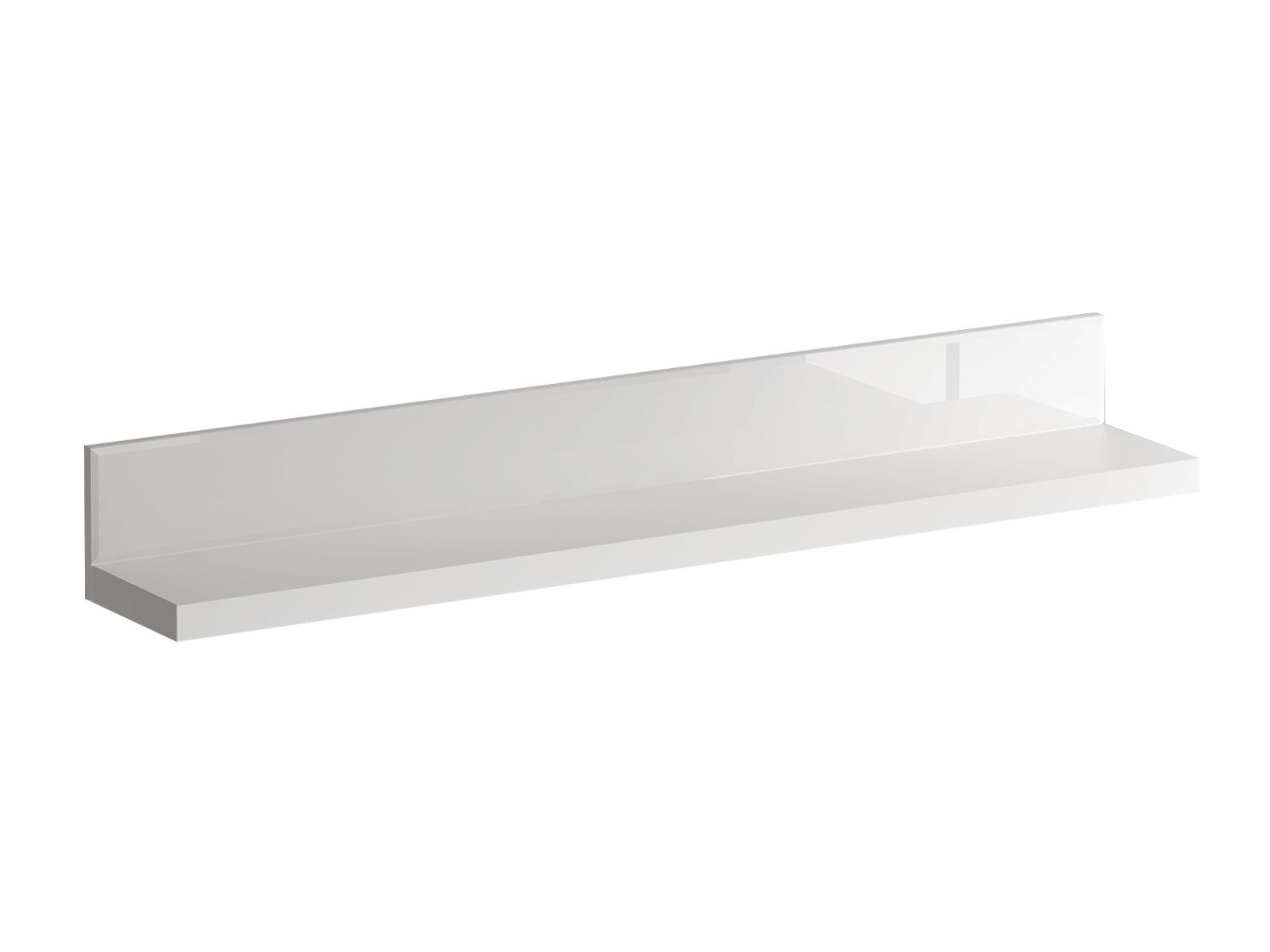 Полка KristalПолки<br>Фасад - стекло белое.<br><br>Material: ДСП<br>Ширина см: 145<br>Высота см: 18<br>Глубина см: 23