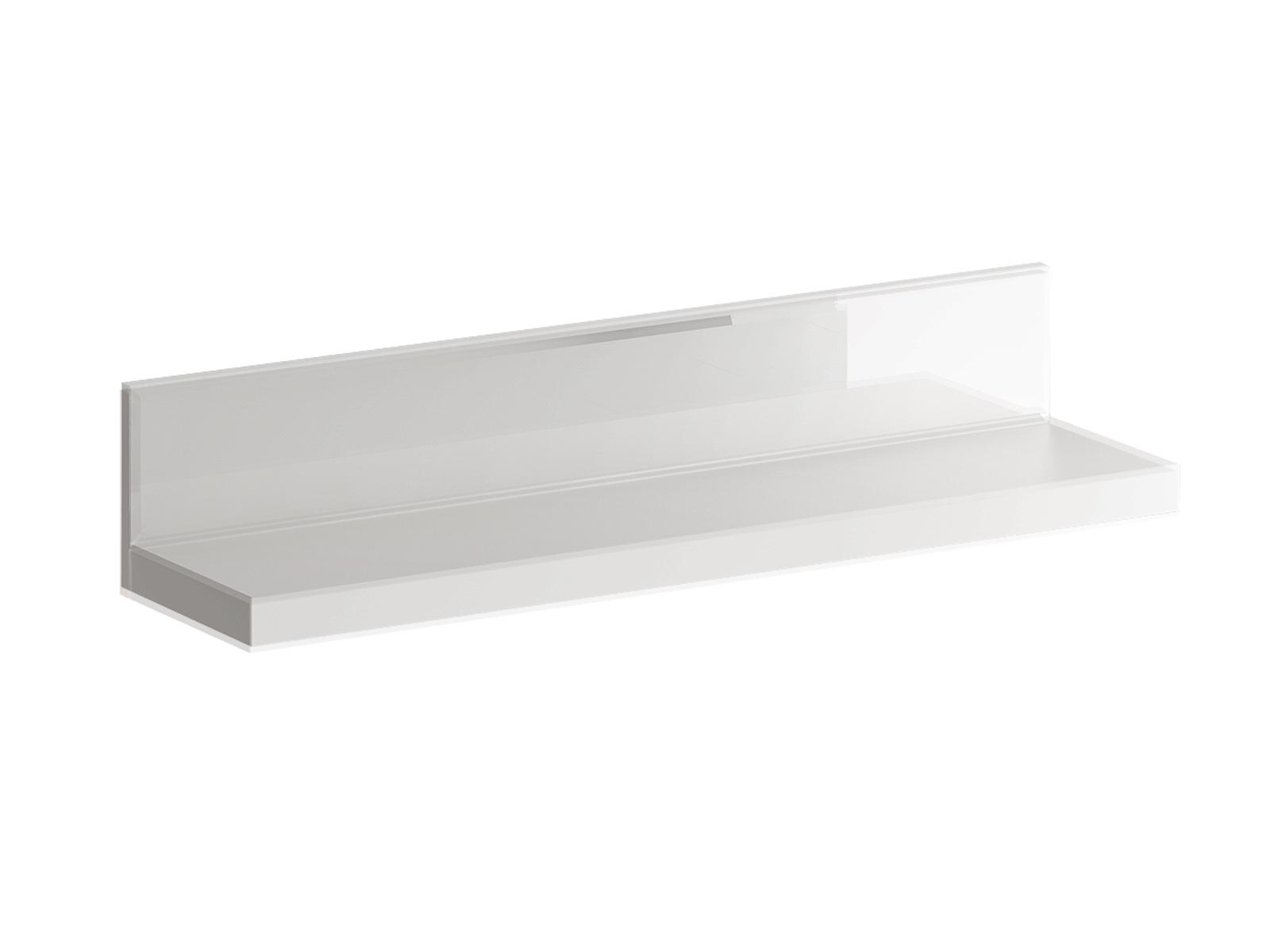 Полка KristalПолки<br>Фасад - стекло белое.<br><br>Material: ДСП<br>Ширина см: 96<br>Высота см: 18<br>Глубина см: 23