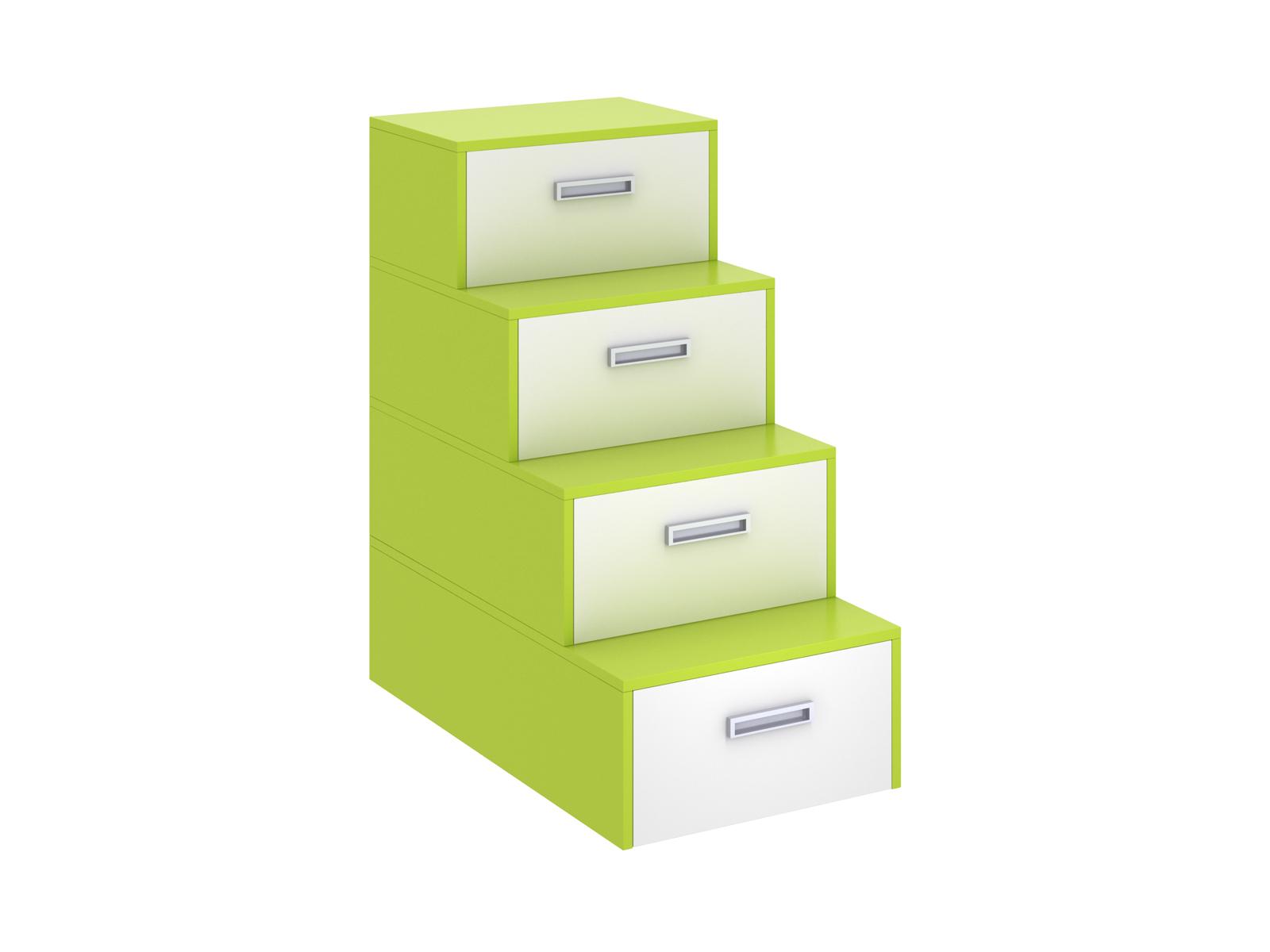 Лестница-комод PinokkioДетские комоды<br>Лестница идёт в дополнение к секции для двухъярусной кровати.&amp;amp;nbsp;&amp;lt;div&amp;gt;В ступеньках лестницы размещаются выдвижные ящики.&amp;lt;/div&amp;gt;<br><br>Material: ДСП<br>Ширина см: 58<br>Высота см: 111<br>Глубина см: 106